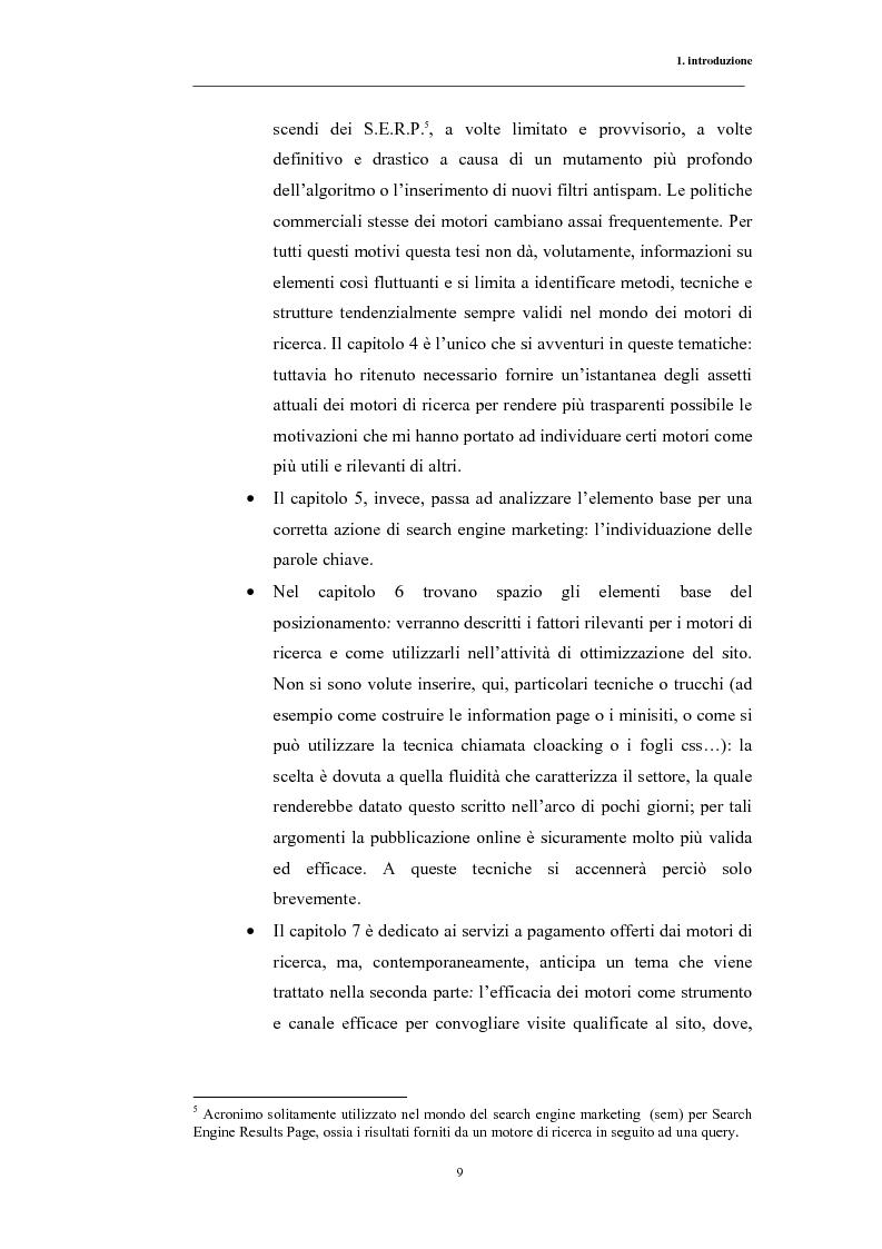 Anteprima della tesi: Posizionamento sui Motori di Ricerca: ''opinione del web'' e strumento di marketing, Pagina 6