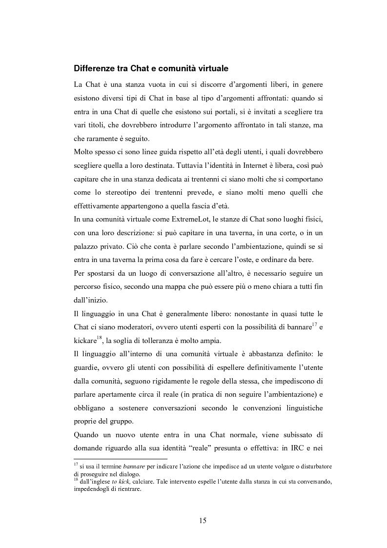 Anteprima della tesi: Analisi di una comunità virtuale: il caso Extremelot, Pagina 11