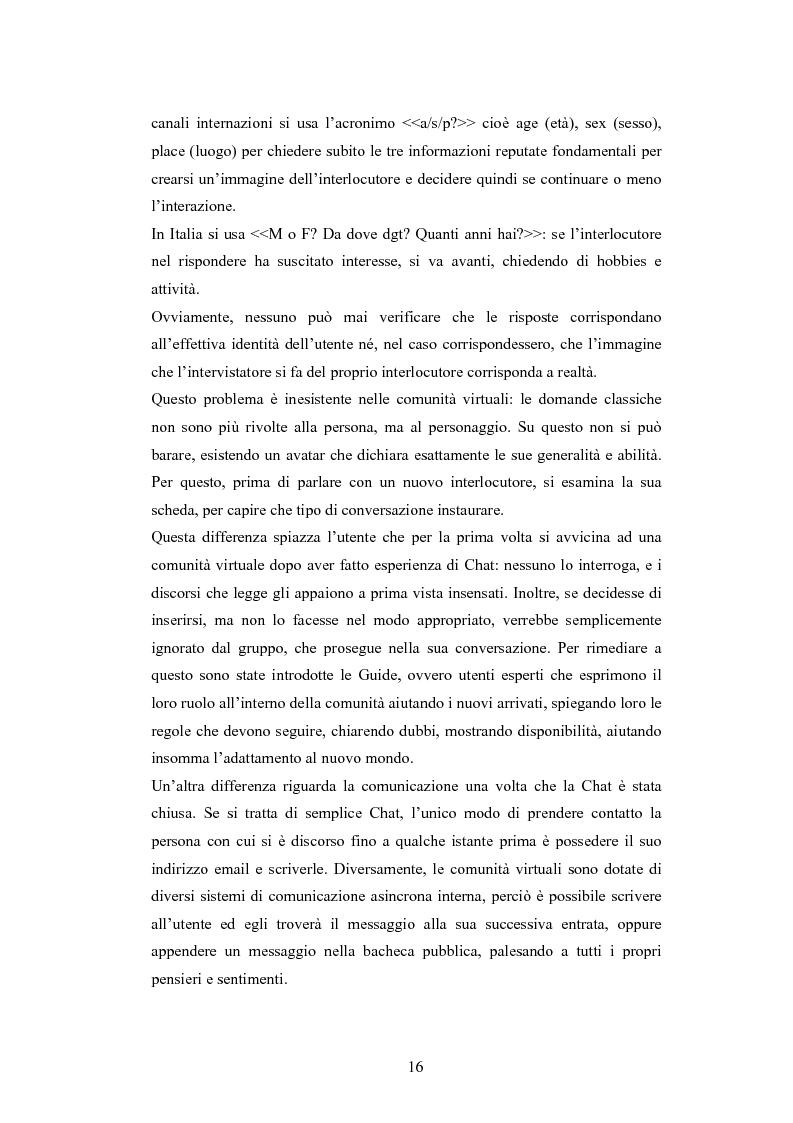 Anteprima della tesi: Analisi di una comunità virtuale: il caso Extremelot, Pagina 12