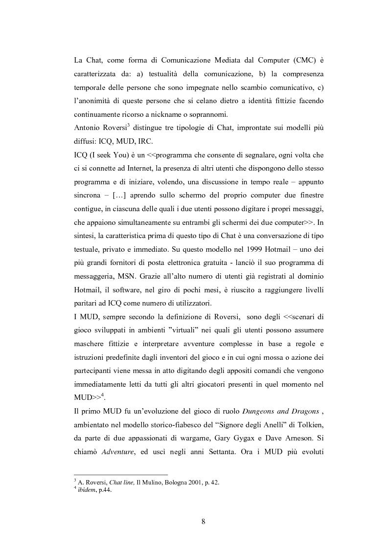 Anteprima della tesi: Analisi di una comunità virtuale: il caso Extremelot, Pagina 4