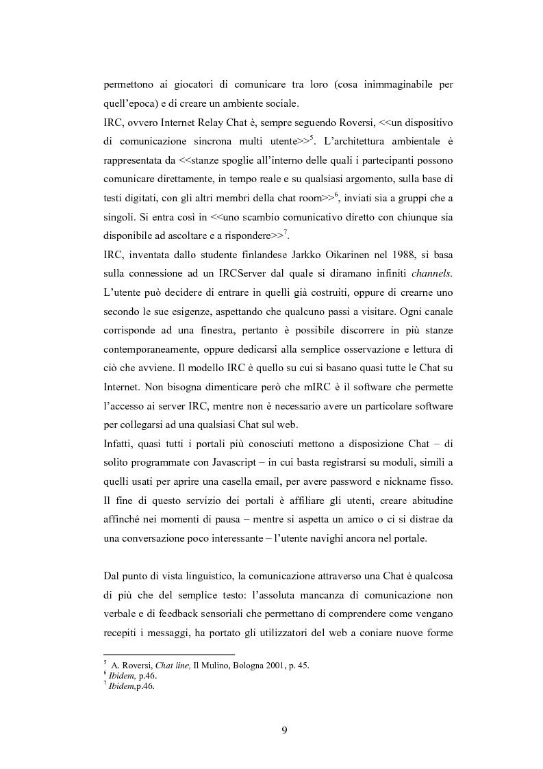 Anteprima della tesi: Analisi di una comunità virtuale: il caso Extremelot, Pagina 5
