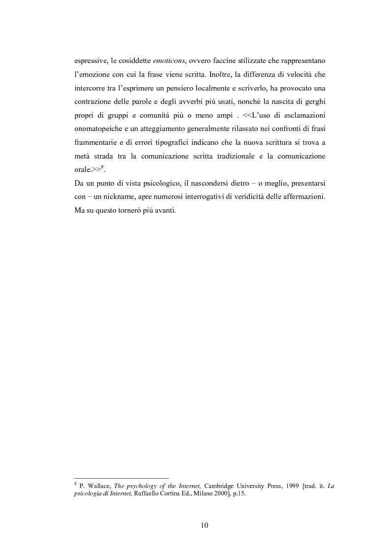 Anteprima della tesi: Analisi di una comunità virtuale: il caso Extremelot, Pagina 6