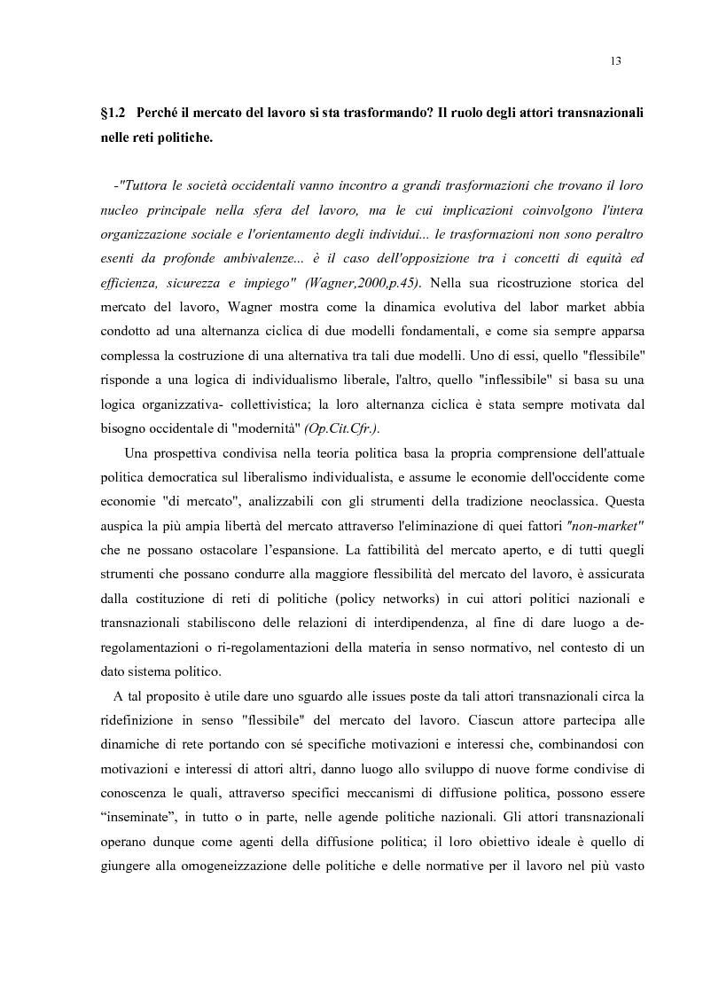 Anteprima della tesi: Policy Transfer e Politiche del Mercato del Lavoro in Italia e in Russia, Pagina 10