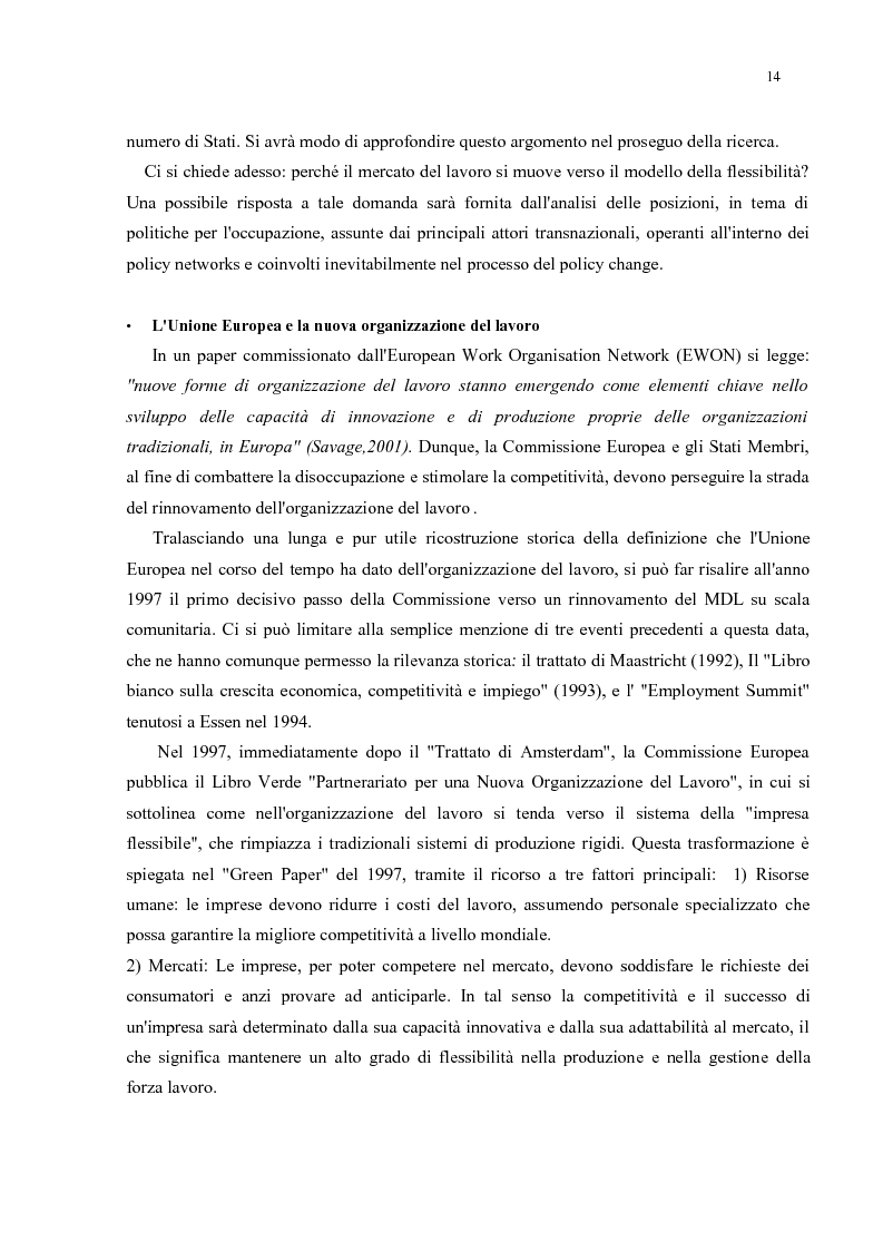 Anteprima della tesi: Policy Transfer e Politiche del Mercato del Lavoro in Italia e in Russia, Pagina 11