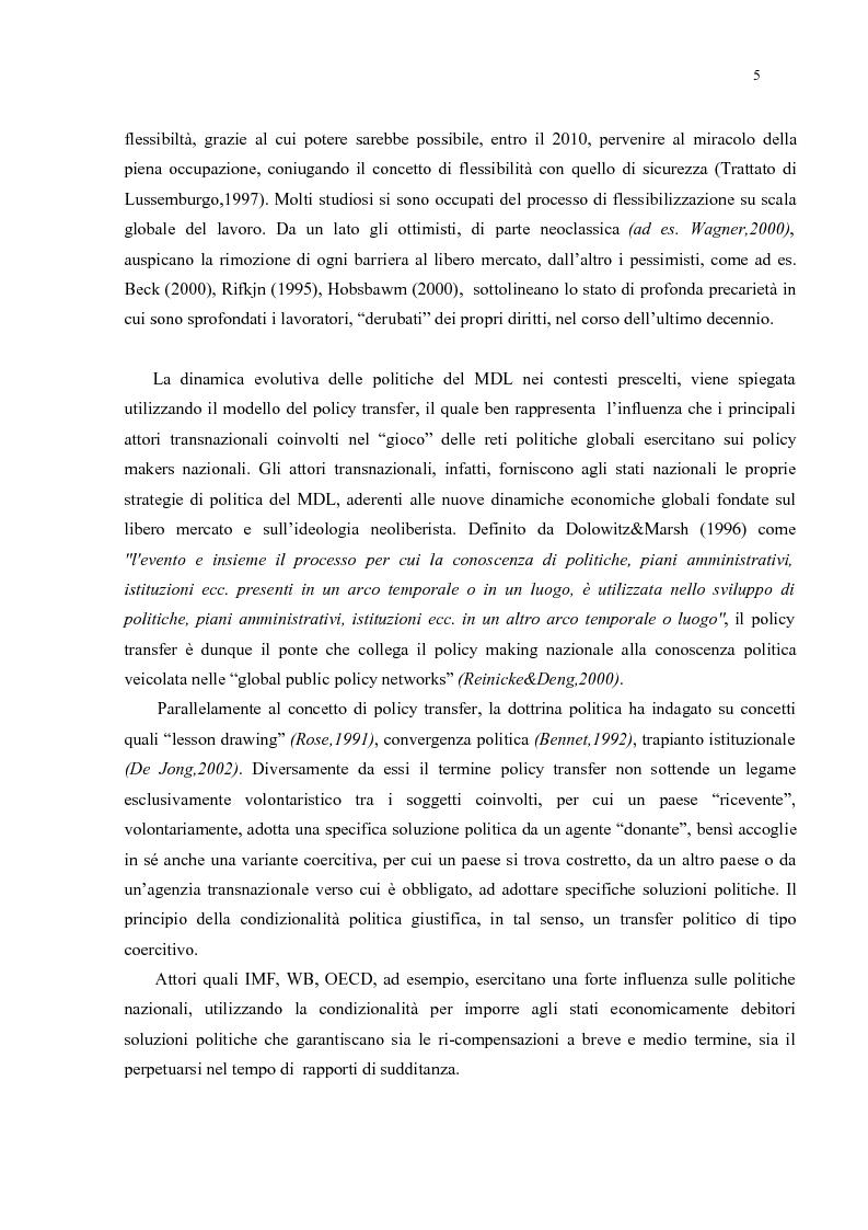 Anteprima della tesi: Policy Transfer e Politiche del Mercato del Lavoro in Italia e in Russia, Pagina 2