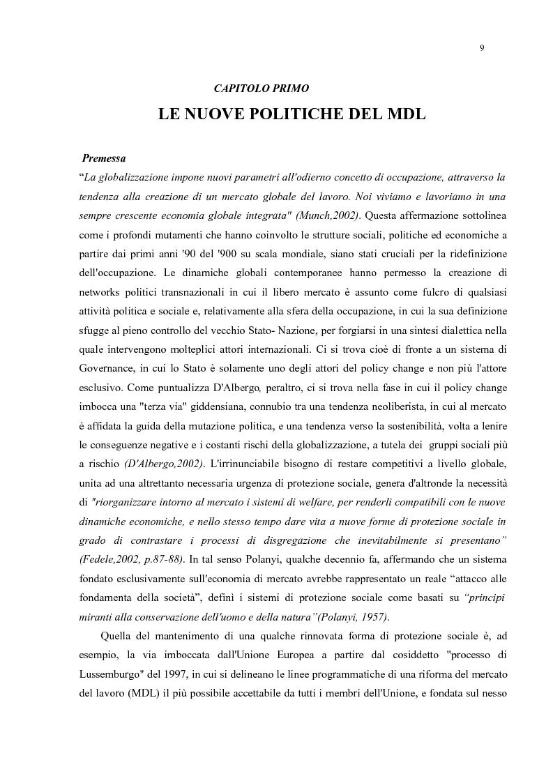 Anteprima della tesi: Policy Transfer e Politiche del Mercato del Lavoro in Italia e in Russia, Pagina 6