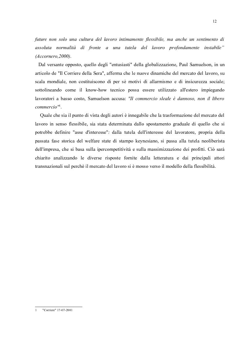 Anteprima della tesi: Policy Transfer e Politiche del Mercato del Lavoro in Italia e in Russia, Pagina 9