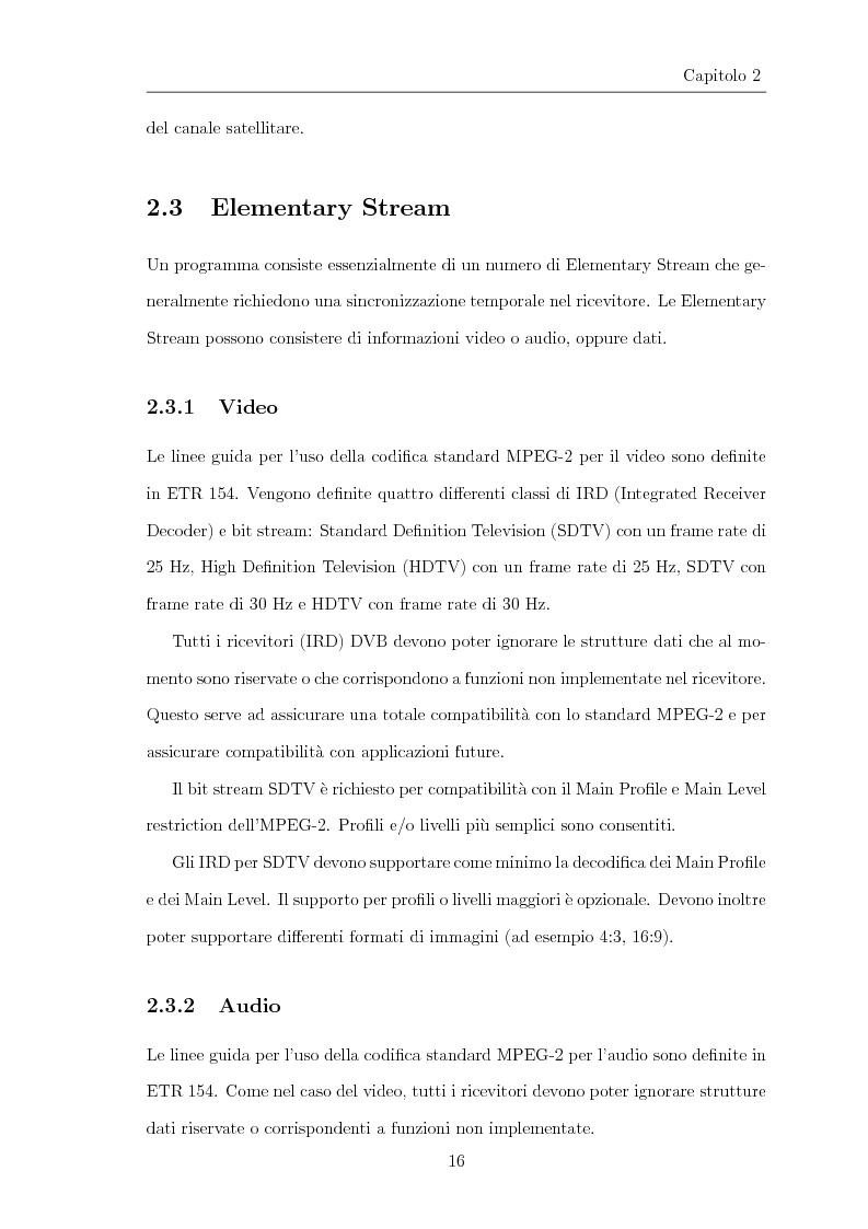 Anteprima della tesi: Progettazione e realizzazione di software per l'analisi di streaming digitale DVB, Pagina 11