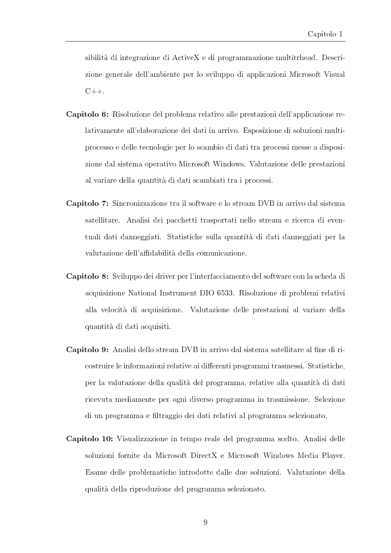 Anteprima della tesi: Progettazione e realizzazione di software per l'analisi di streaming digitale DVB, Pagina 4