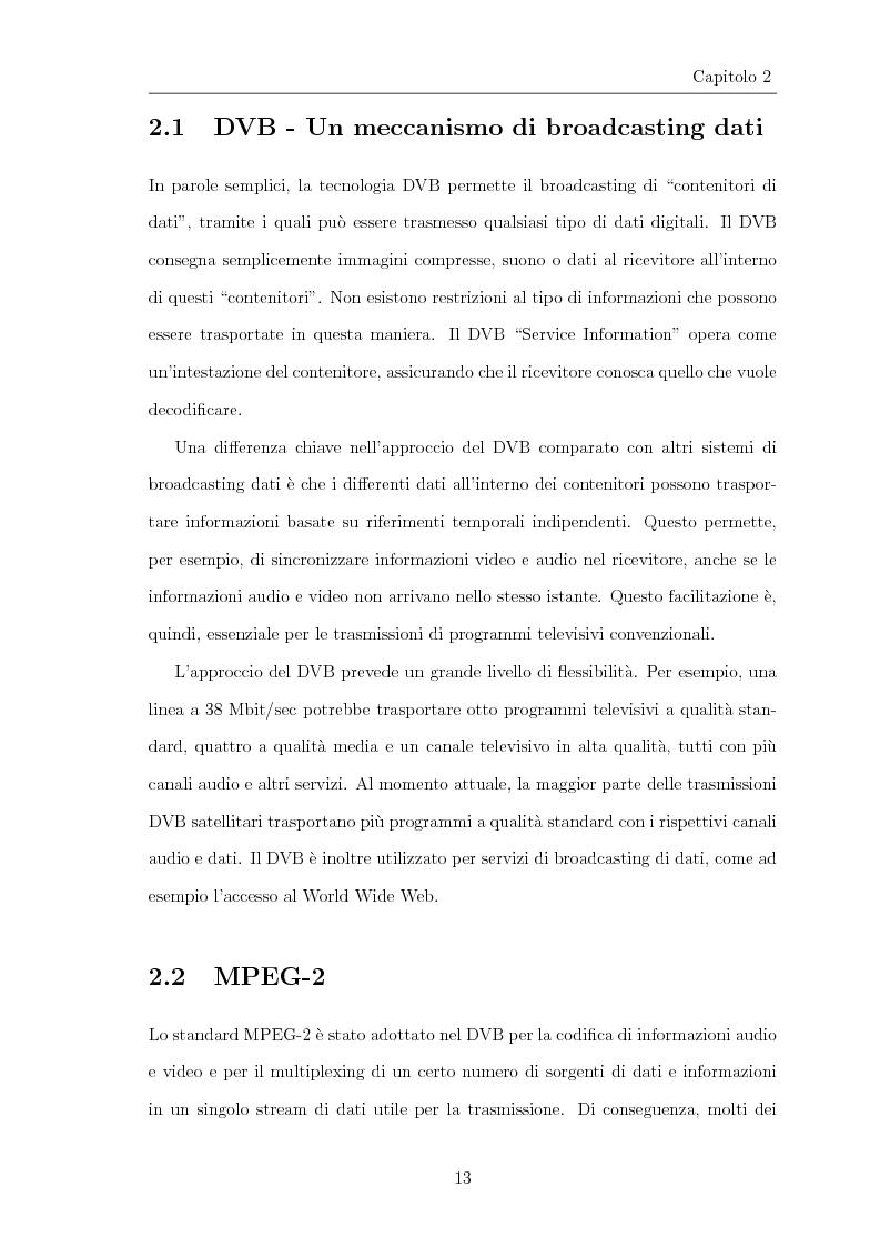Anteprima della tesi: Progettazione e realizzazione di software per l'analisi di streaming digitale DVB, Pagina 8