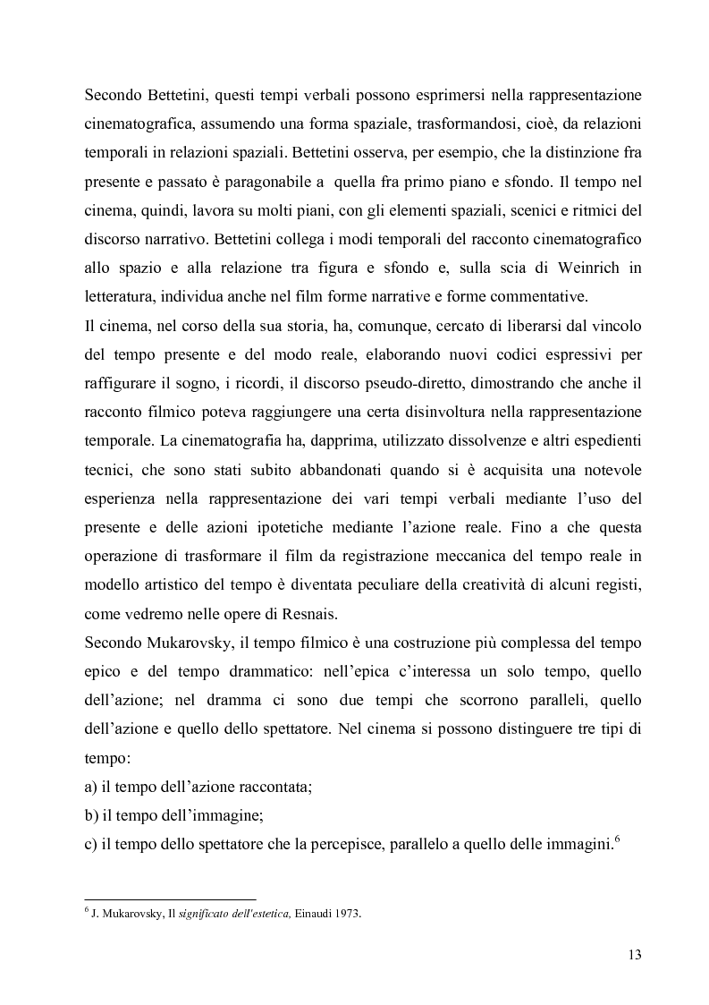 Anteprima della tesi: Lo spazio e il tempo nel cinema di Alain Resnais: Hiroshima mon amour, L'année dernière a Marienbad e Muriel., Pagina 10