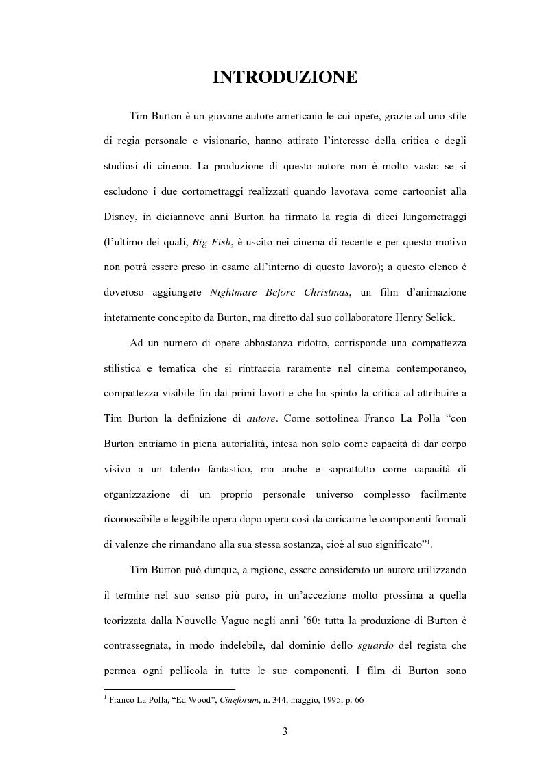 Anteprima della tesi: La fiaba autoriflessiva: il cinema di Tim Burton, Pagina 1