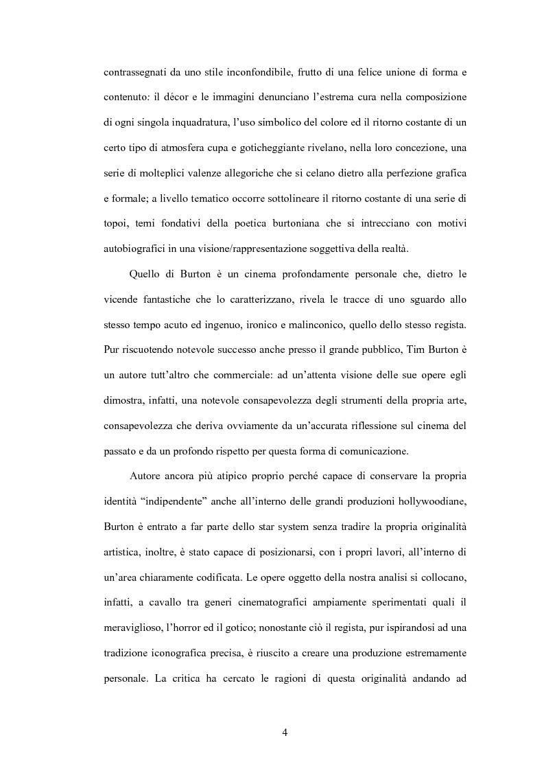 Anteprima della tesi: La fiaba autoriflessiva: il cinema di Tim Burton, Pagina 2
