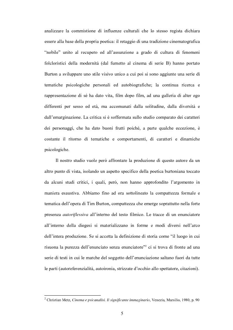 Anteprima della tesi: La fiaba autoriflessiva: il cinema di Tim Burton, Pagina 3