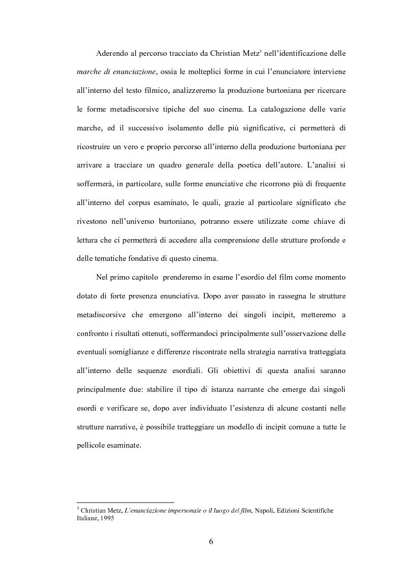Anteprima della tesi: La fiaba autoriflessiva: il cinema di Tim Burton, Pagina 4