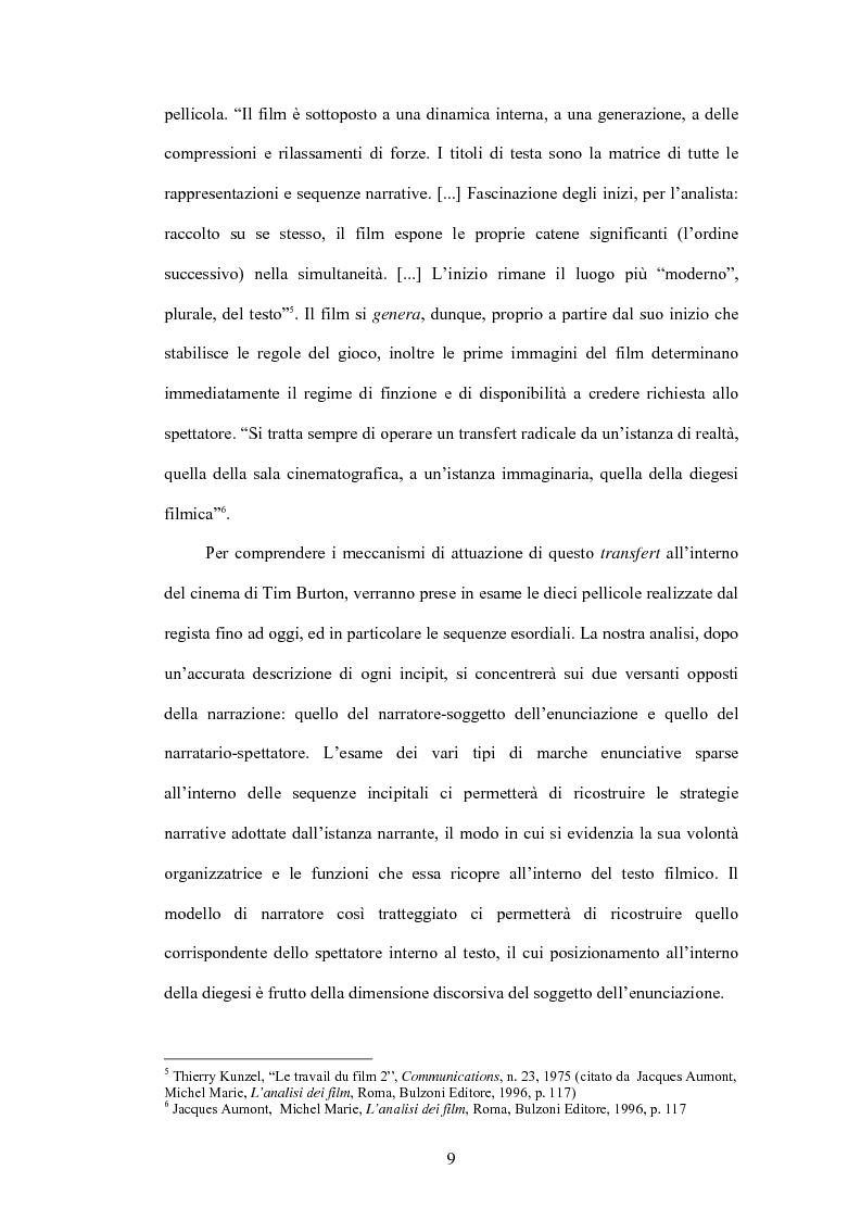 Anteprima della tesi: La fiaba autoriflessiva: il cinema di Tim Burton, Pagina 7