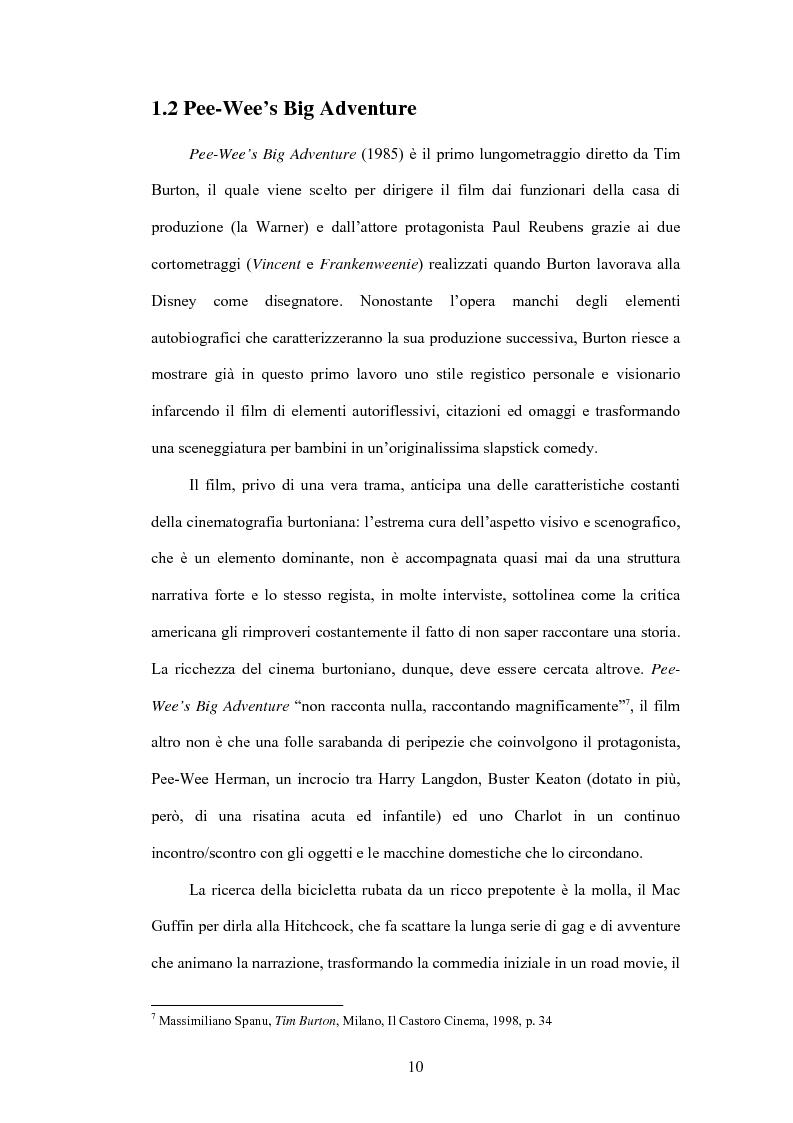 Anteprima della tesi: La fiaba autoriflessiva: il cinema di Tim Burton, Pagina 8