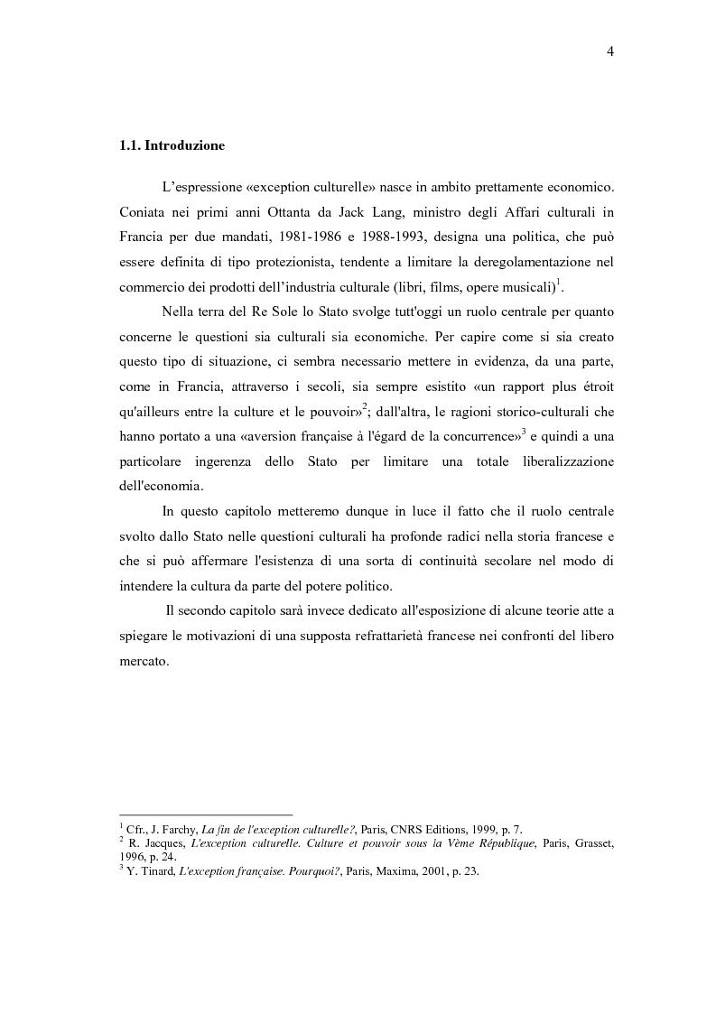 Anteprima della tesi: L'exception française, Pagina 1