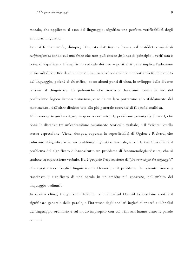 Anteprima della tesi: La pragmatica linguistica. Austin e Grice, Pagina 12