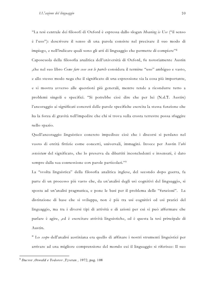 Anteprima della tesi: La pragmatica linguistica. Austin e Grice, Pagina 13