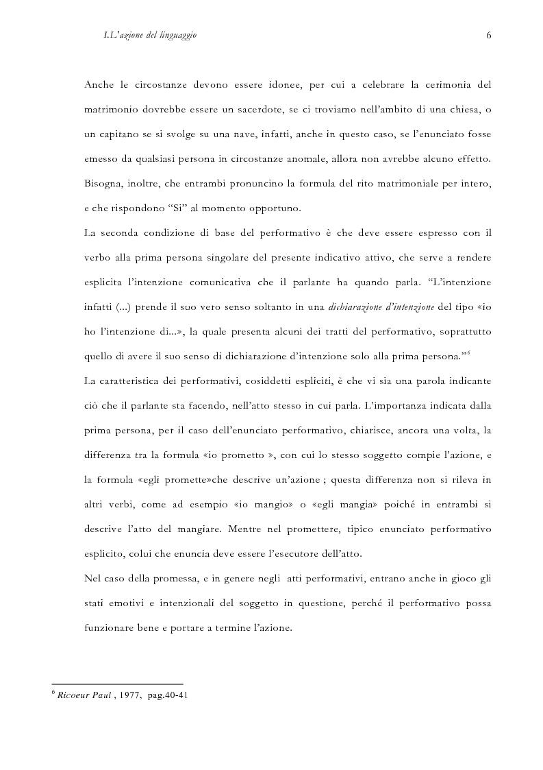 Anteprima della tesi: La pragmatica linguistica. Austin e Grice, Pagina 9