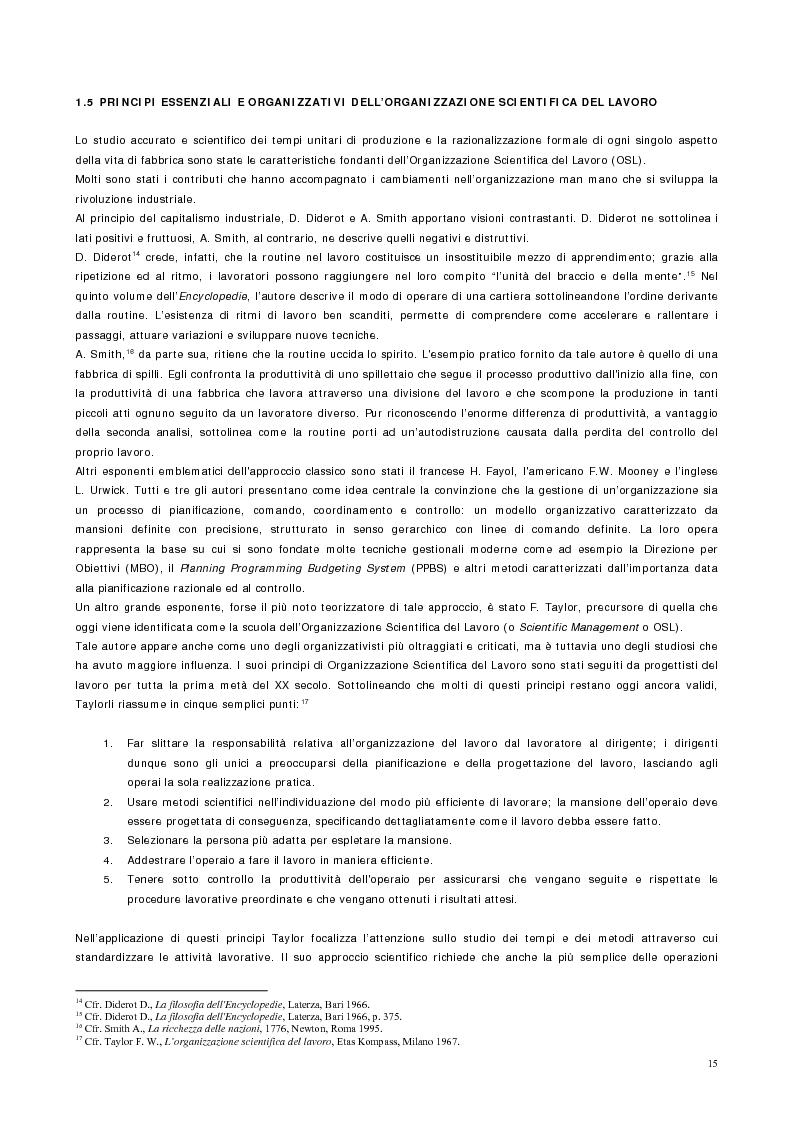 Anteprima della tesi: Vantaggio competitivo, management e qualità, Pagina 11
