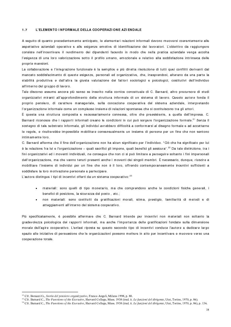 Anteprima della tesi: Vantaggio competitivo, management e qualità, Pagina 14