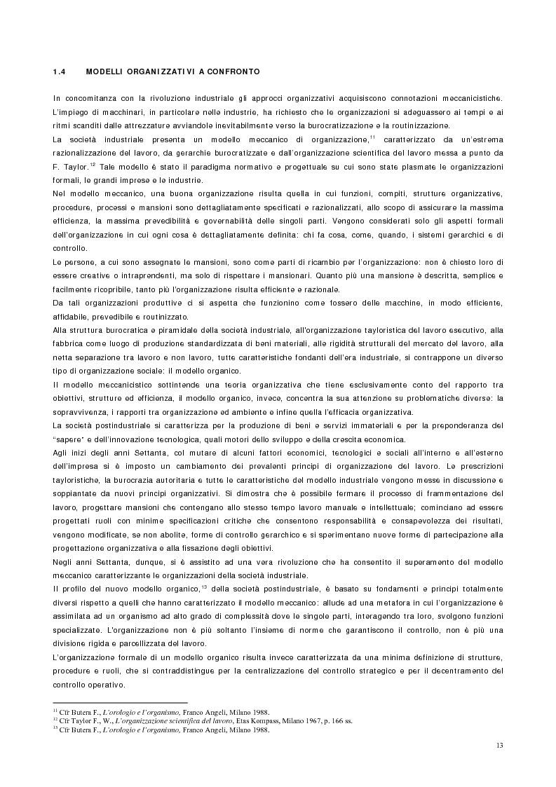 Anteprima della tesi: Vantaggio competitivo, management e qualità, Pagina 9