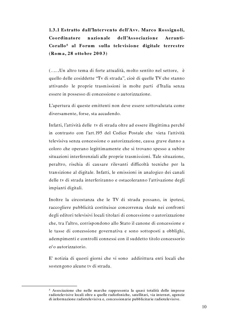 Anteprima della tesi: Telestreet: Il vero elisir della libertà di comunicazione?, Pagina 10