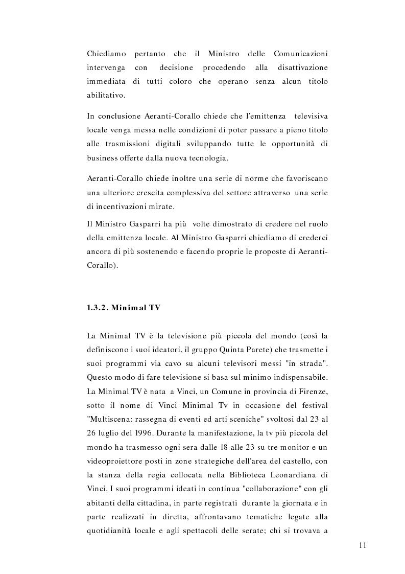 Anteprima della tesi: Telestreet: Il vero elisir della libertà di comunicazione?, Pagina 11
