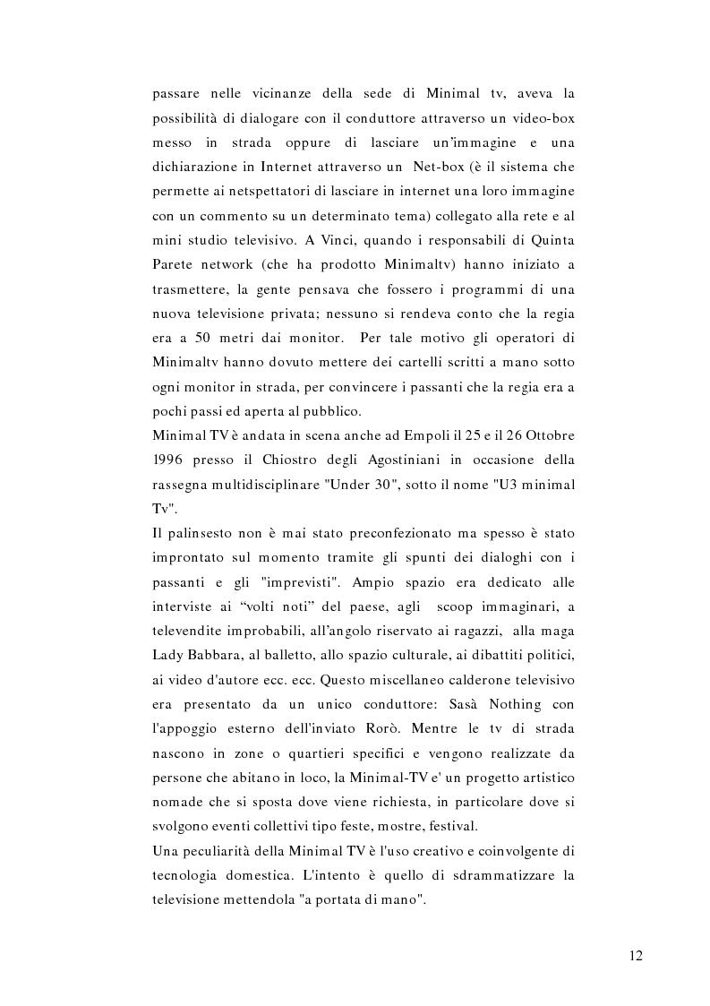 Anteprima della tesi: Telestreet: Il vero elisir della libertà di comunicazione?, Pagina 12