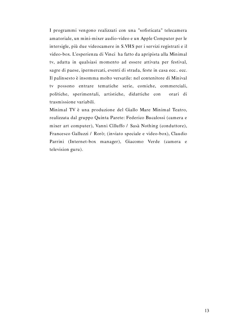 Anteprima della tesi: Telestreet: Il vero elisir della libertà di comunicazione?, Pagina 13