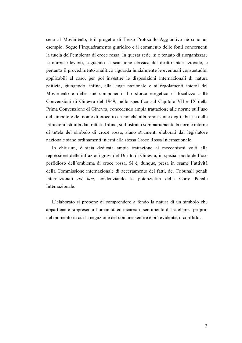 Anteprima della tesi: La tutela internazionale del simbolo di Croce Rossa, Pagina 2