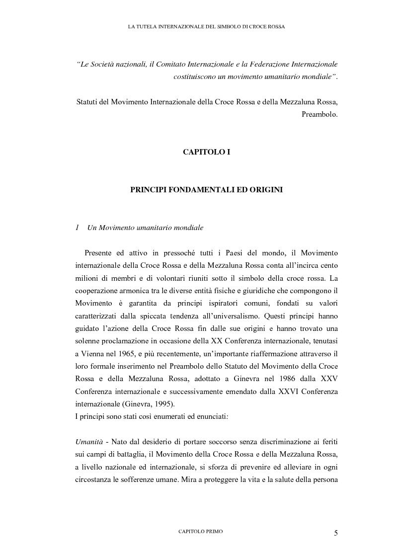Anteprima della tesi: La tutela internazionale del simbolo di Croce Rossa, Pagina 4
