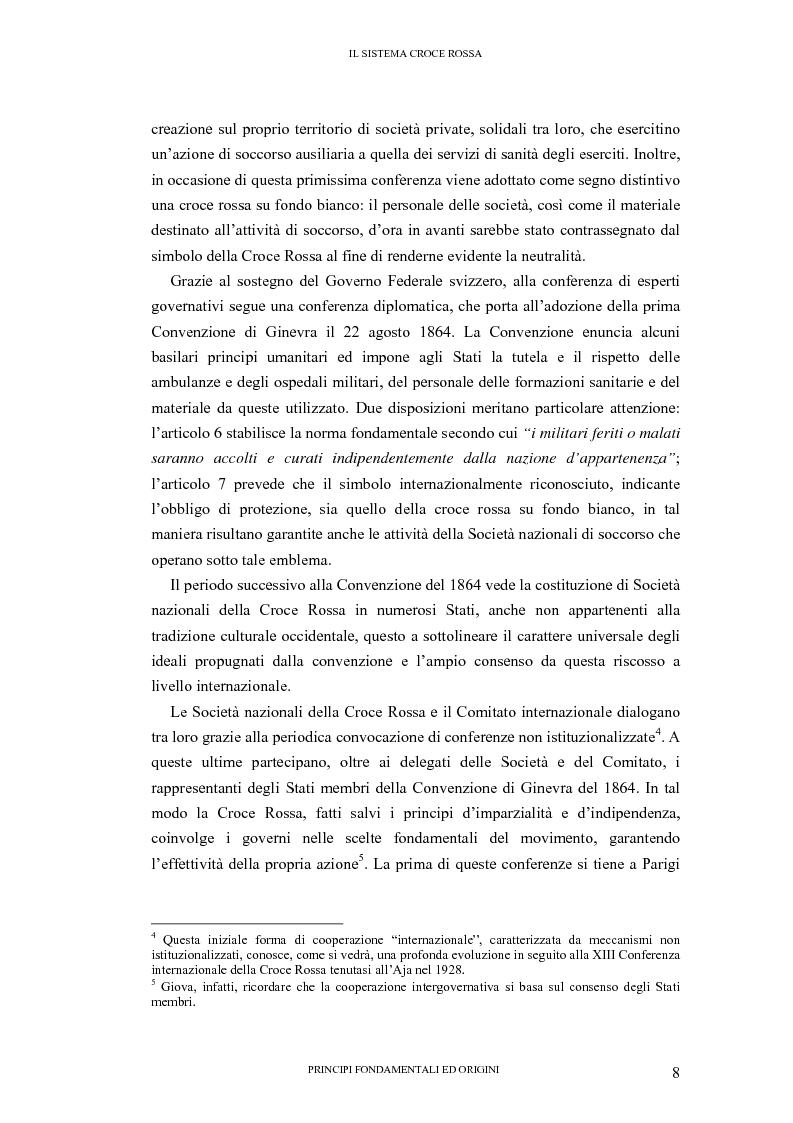 Anteprima della tesi: La tutela internazionale del simbolo di Croce Rossa, Pagina 7