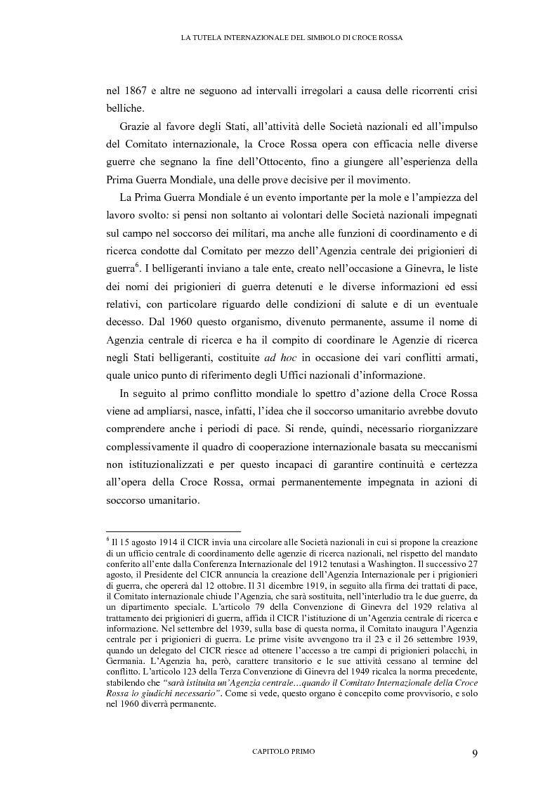 Anteprima della tesi: La tutela internazionale del simbolo di Croce Rossa, Pagina 8