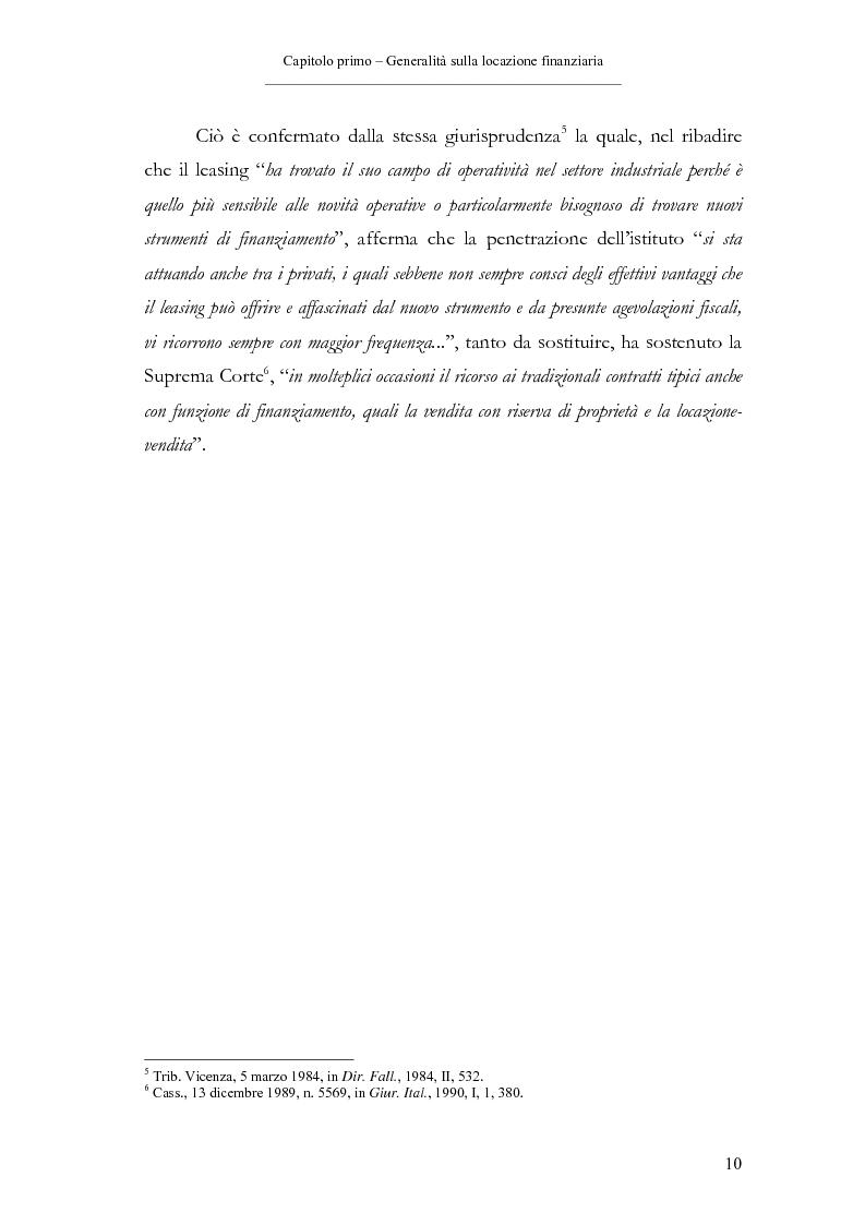 Anteprima della tesi: Il contratto di leasing, Pagina 10