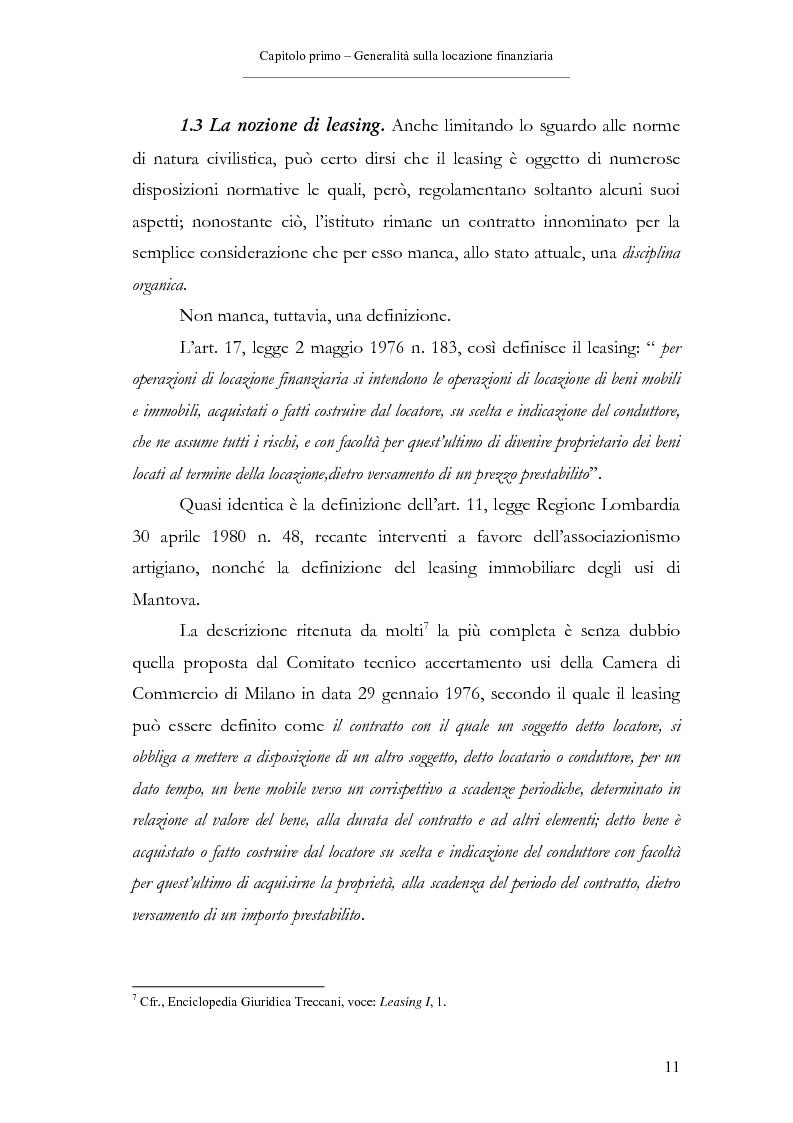 Anteprima della tesi: Il contratto di leasing, Pagina 11