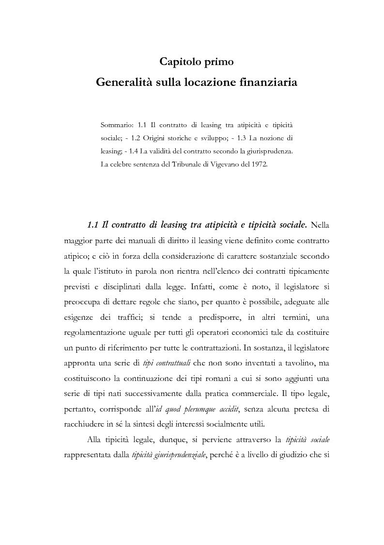Anteprima della tesi: Il contratto di leasing, Pagina 3