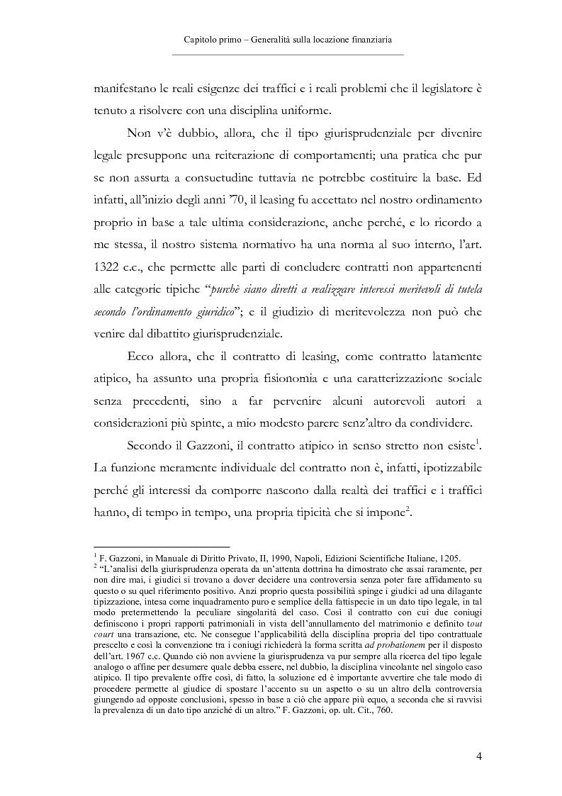 Anteprima della tesi: Il contratto di leasing, Pagina 4