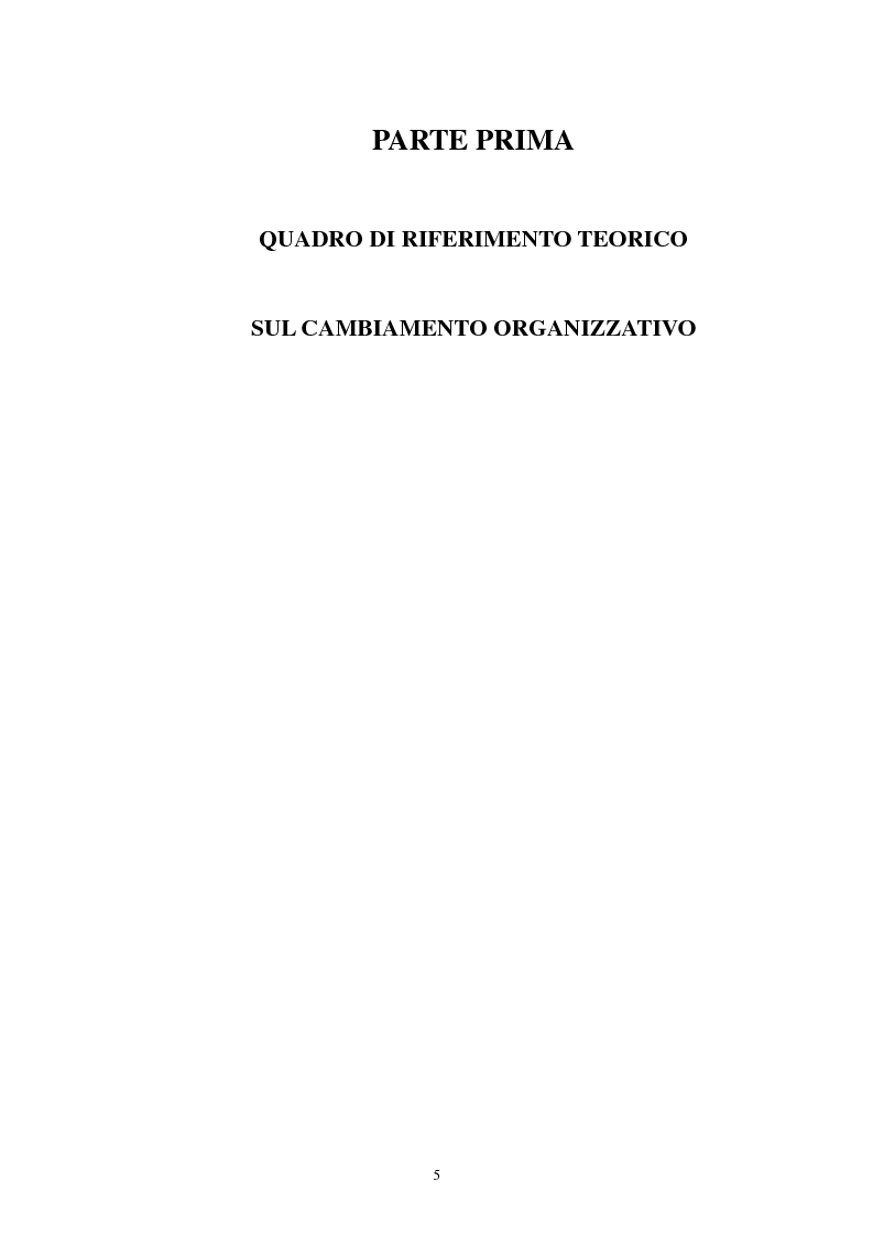 Anteprima della tesi: Coping associato al cambiamento organizzativo, Pagina 3