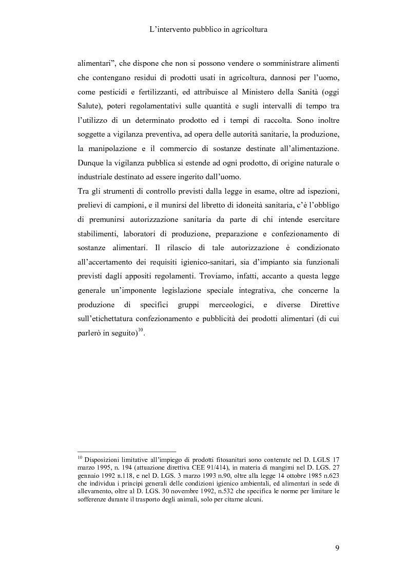 Anteprima della tesi: Interventi pubblici per la sicurezza alimentare, Pagina 11