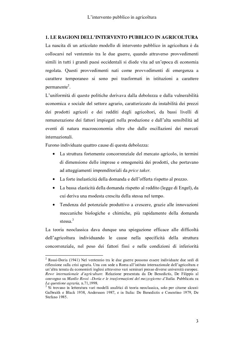Anteprima della tesi: Interventi pubblici per la sicurezza alimentare, Pagina 5