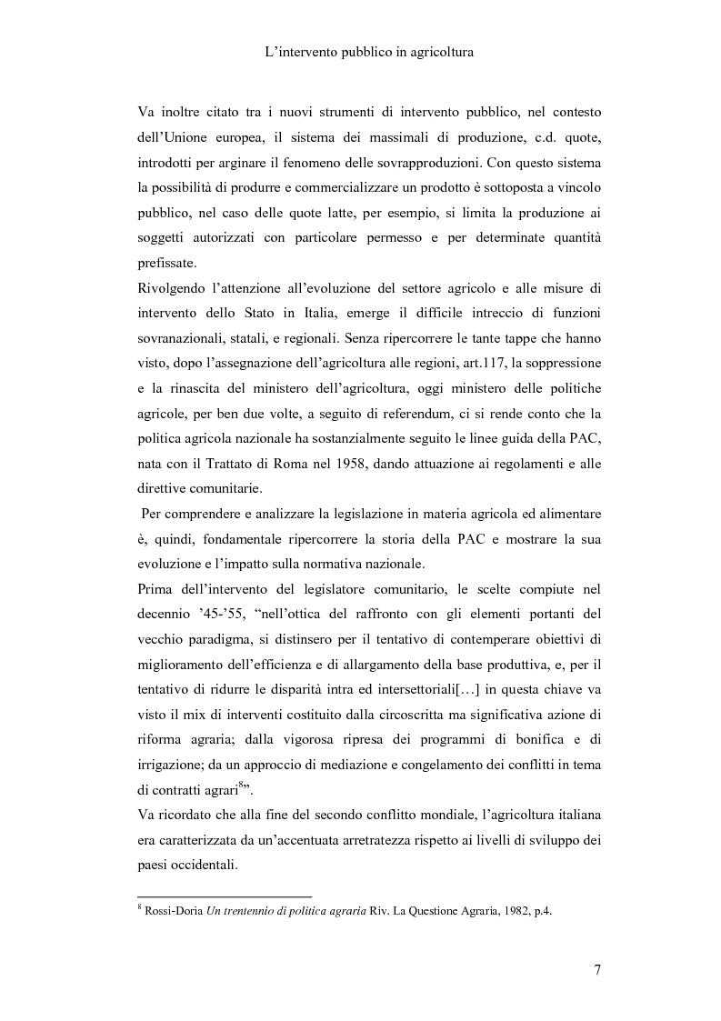 Anteprima della tesi: Interventi pubblici per la sicurezza alimentare, Pagina 9