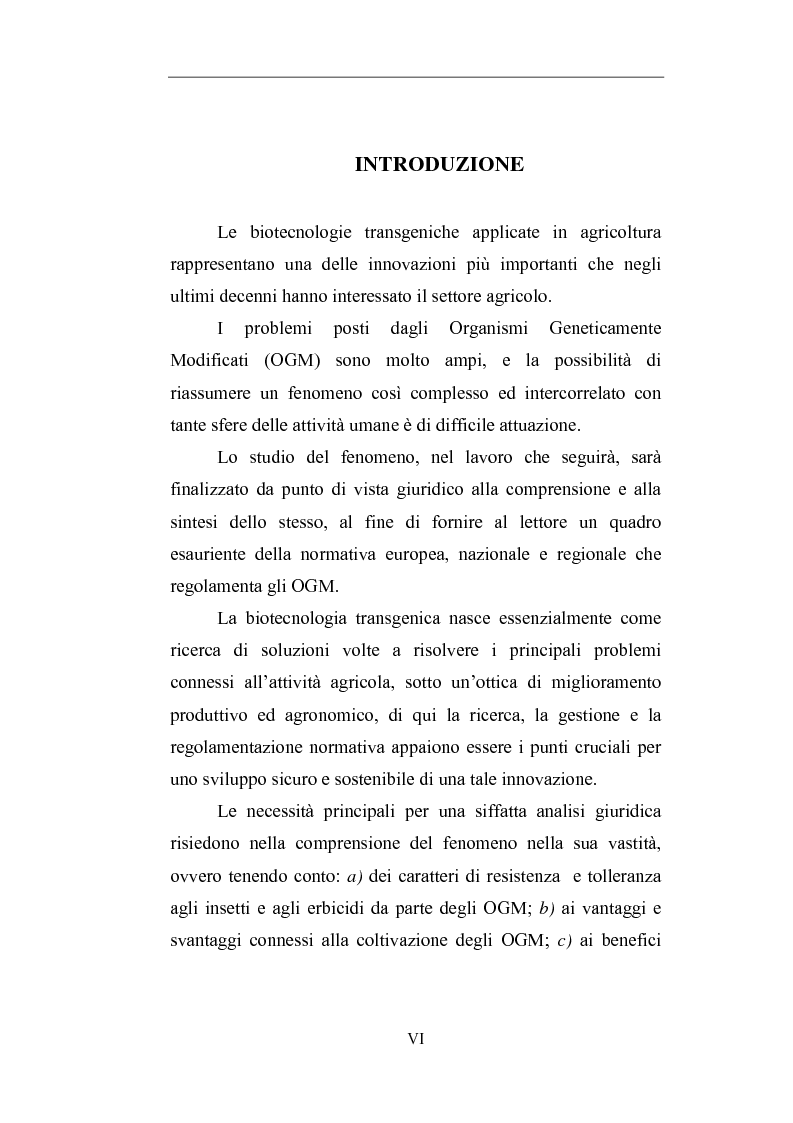 Anteprima della tesi: Gli Organismi Geneticamente Modificati (OGM), Pagina 1