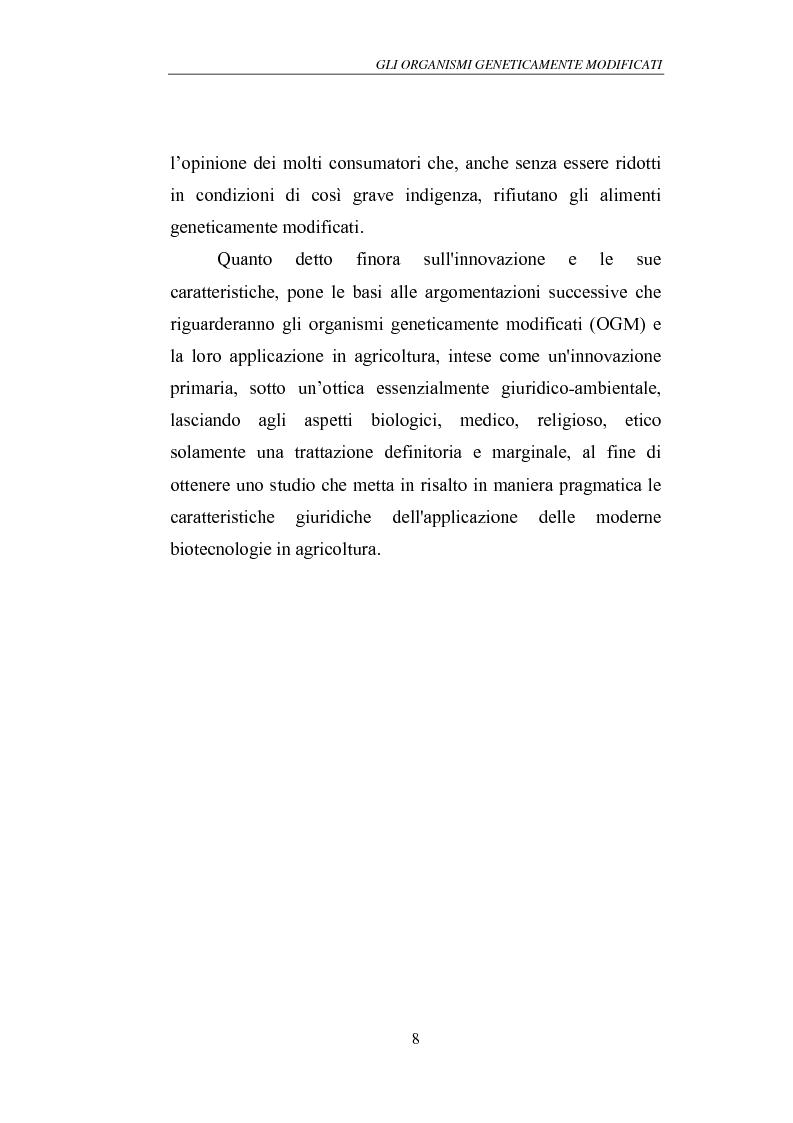 Anteprima della tesi: Gli Organismi Geneticamente Modificati (OGM), Pagina 12