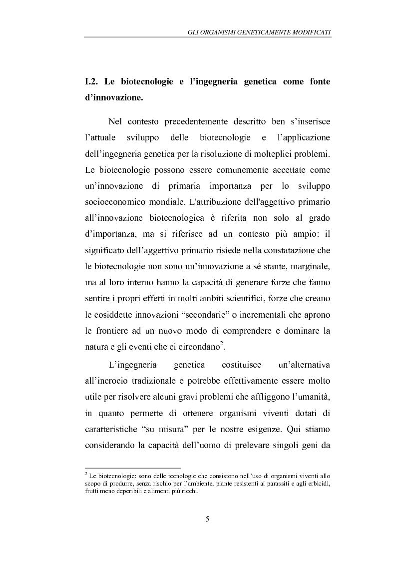 Anteprima della tesi: Gli Organismi Geneticamente Modificati (OGM), Pagina 9