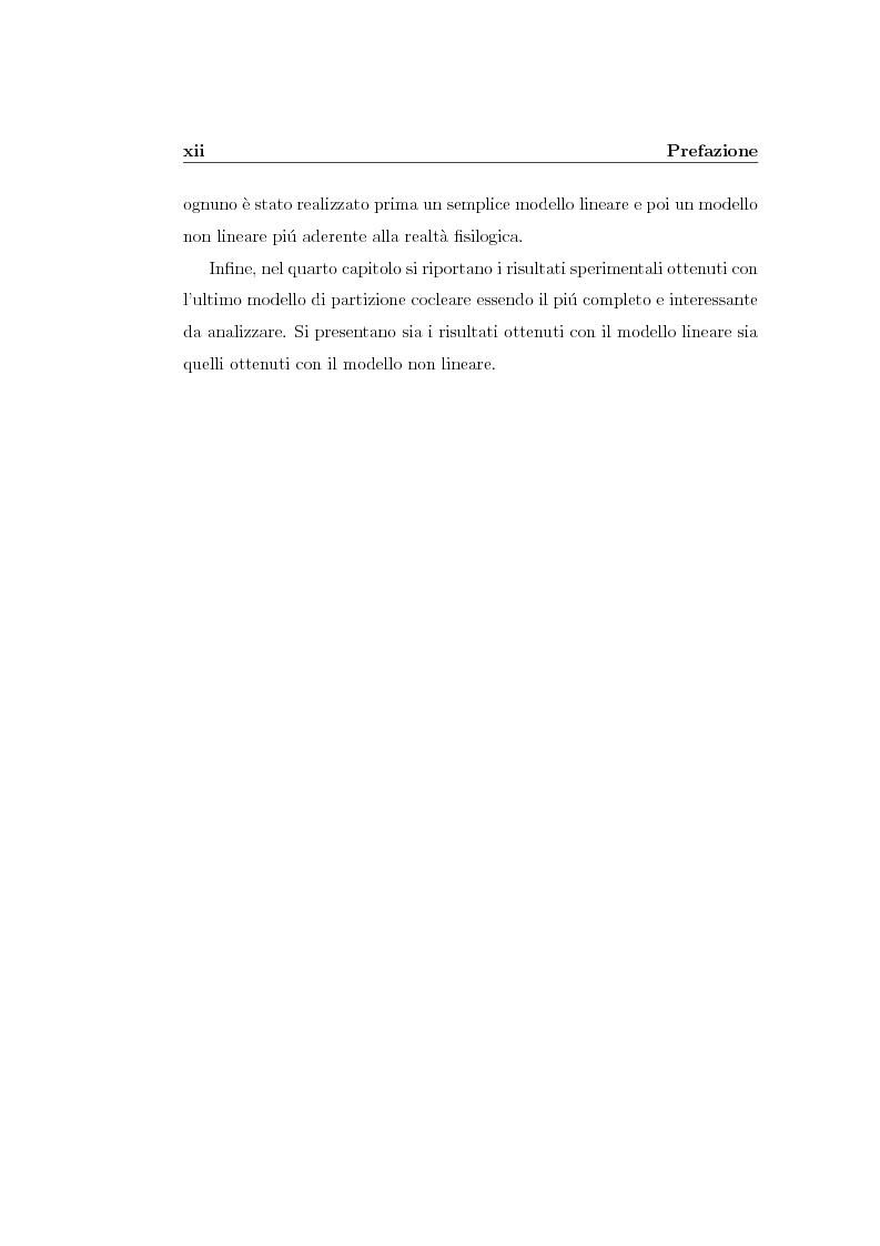 Anteprima della tesi: Modelli lineari e non lineari di partizione cocleare: loro realizzazione con filtri ad onda, Pagina 2