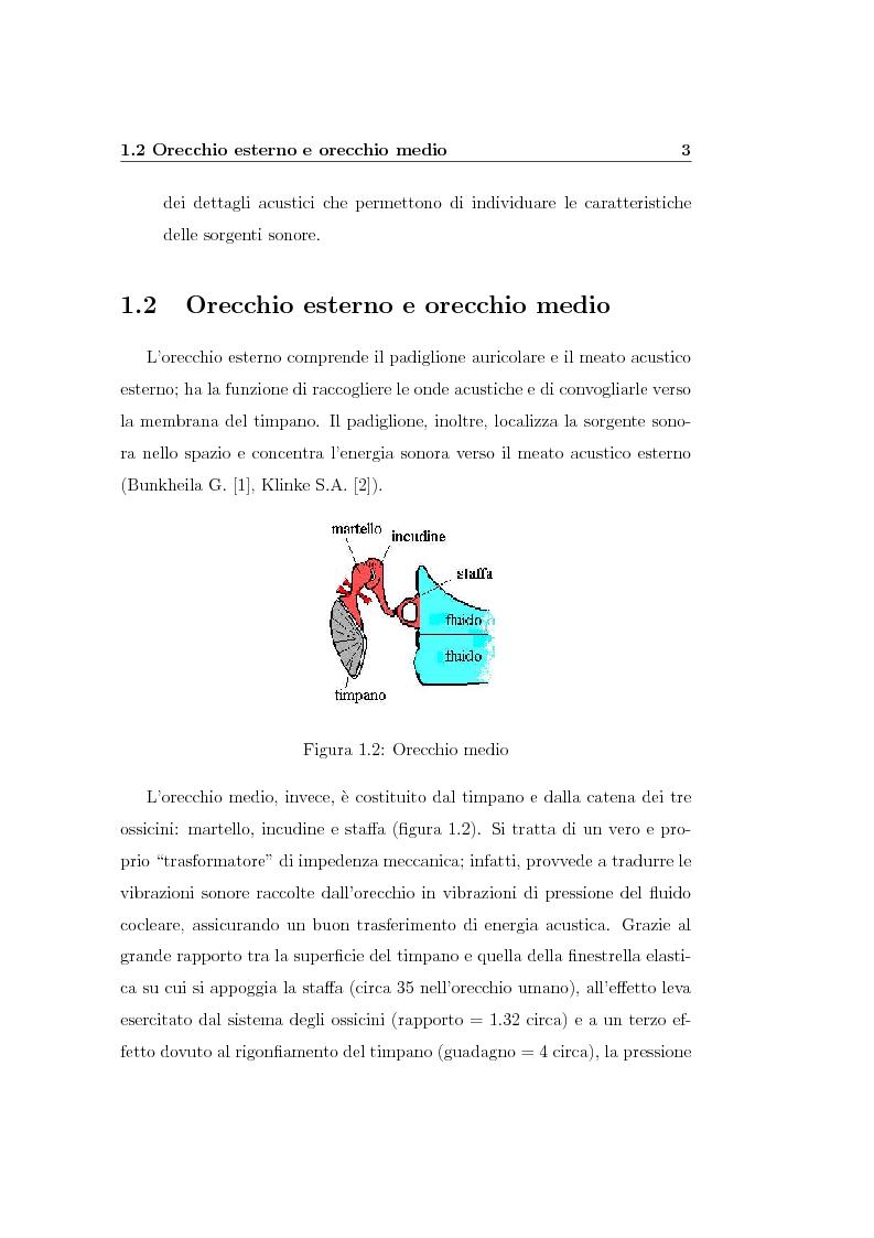 Anteprima della tesi: Modelli lineari e non lineari di partizione cocleare: loro realizzazione con filtri ad onda, Pagina 5