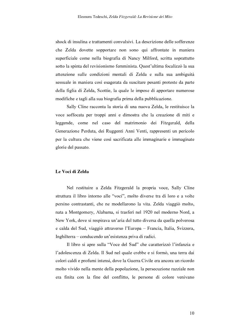 Anteprima della tesi: Zelda Fitzgerald: La Revisione del Mito, Pagina 10